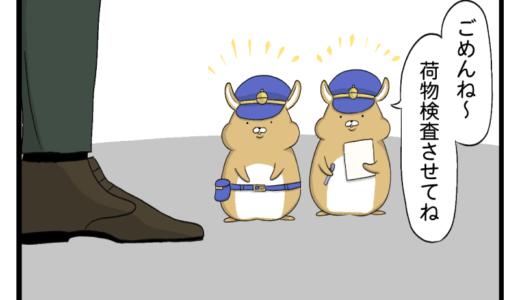 【4コマ漫画】ドングリを取り締まるポリス